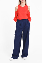 Tibi Cargo Denim Trousers