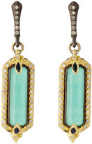 Armenta Old World Diamond, Sapphire & Turquoise Doublet Drop Earrings