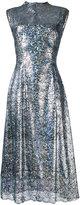 Christopher Kane long lace foil dress