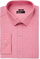Bar III Men's Slim-Fit Stretch Easy Care Coral Dot Dobby Dress Shirt, Created for Macy's
