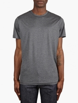 Sunspel Grey Short Sleeve Crew Neck T-Shirt