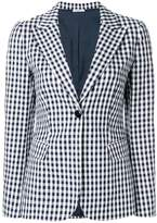 P.A.R.O.S.H. gingham fitted blazer