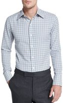 Tom Ford Tattersall Check Dress Shirt, White/Blue