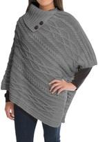 J.G. Glover & CO. Peregrine by J.G. Glover Poncho Sweater - Peruvian Merino Wool, Button Neck (For Women)
