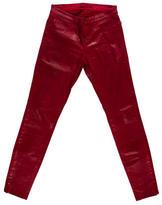 J Brand Coated Skinny-Leg Pants