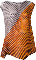 Pleats Please By Issey Miyake - geometric print sleeveless blouse - women - Polyester - V