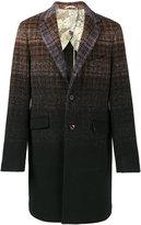 Etro gradient check coat - men - Cotton/Polyamide/Wool - 46