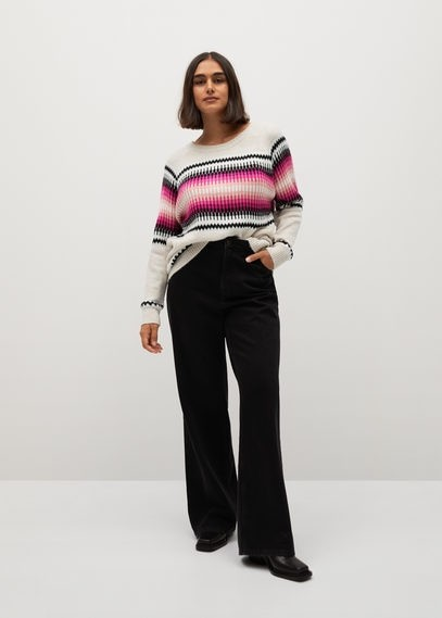 MANGO Geometric jacquard sweater