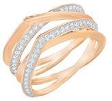 Swarovski Genius 18K Rose Goldplated and Crystal Ring