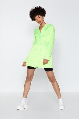 Nasty Gal Womens Such a Hell Blazer Dress - Green - 6