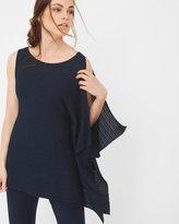 White House Black Market Asymmetric Drape Sleeve Shimmer Sweater