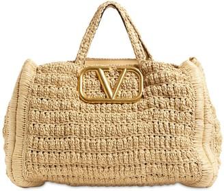 Valentino IN.IT CROCHET TOTE BAG