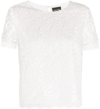 Ermanno Ermanno lace short-sleeve T-shirt