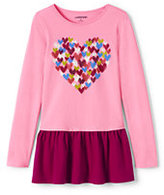 Classic Toddler Girls Long Sleeve Graphic Skirted Legging Top-Foil Stars