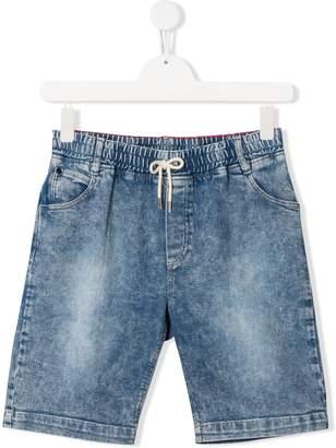 Little Marc Jacobs TEEN patch detail denim shorts