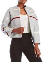 Carolina Herrera Wave Flared Wool Jacket