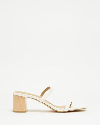 Spurr Women's White Mid-low heels - Ruth Heels - Size 5 at The Iconic
