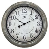 Infinity Instruments Aged Silver And Gold Wall Clock - Silver