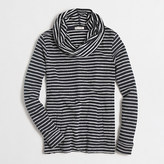 J.Crew Factory Striped terry funnelneck sweatshirt with pockets