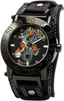 Ed Hardy Men's Hugo HU-DR Leather Quartz Watch with Dial
