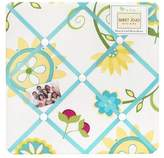 JoJo Designs Sweet Turquoise and Lime Layla Fabric Memory/Memo Photo Bulletin Board