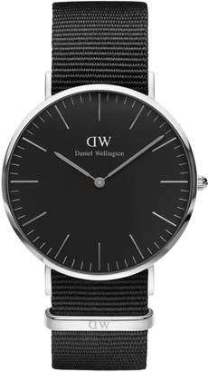 Daniel Wellington Analog Classic Stainless Steel and Leather Watch