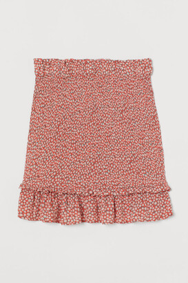 H&M Smocked Skirt - Red