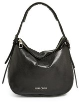 Jimmy Choo 'Small Boho' Leather Hobo - Black
