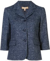 Michael Kors three-button blazer - women - Polyamide/Spandex/Elastane/Wool - 12