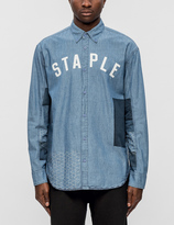 Staple Patchwork Logo Woven Shirt