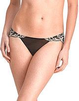 Natori Envious Microfiber & Scalloped Lace Bikini Panty