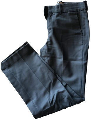 Drykorn Blue Wool Trousers for Women