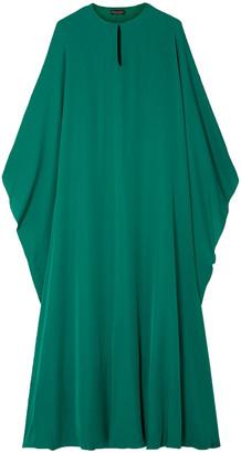 Reem Acra Draped Silk-georgette Midi Dress