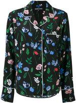 Markus Lupfer floral pyjama-style top - women - Silk/Viscose - XS