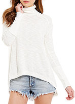 Free People Knit Turtleneck Long Sleeve Top