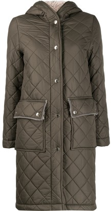 MACKINTOSH GRANGE Taupe Quilted Hooded Coat   LQ-1001