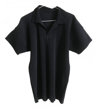 Pleats Please Navy Polyester Polo shirts