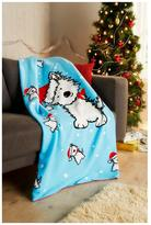 Hamilton McBride Christmas Dog Fleece Throw