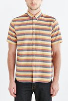 Urban Outfitters Jed & Marne Andy Stripe Short-Sleeve Button-Down Shirt