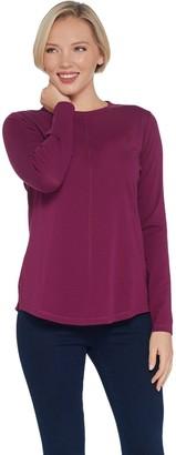 Isaac Mizrahi Live! SOHO Long Sleeve Crew-Neck Knit Top