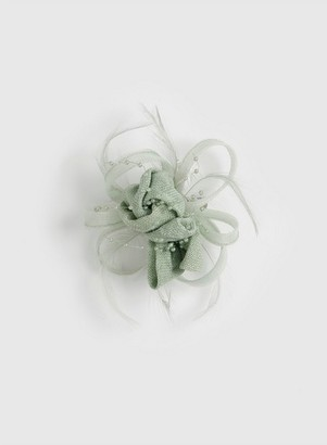 Dorothy Perkins Womens Green Hessian Fascinator, Green