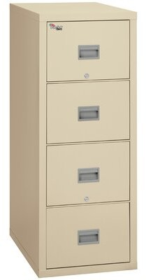 Patriot 4 Drawer Vertical Filing Cabinet FireKing Color: Parchment