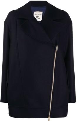 Semi-Couture Asymmetric Zipped Jacket