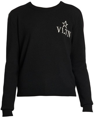 Valentino VLTN Virgin Wool & Cashmere Crewneck Sweater