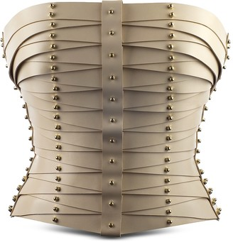 Cream Laced Strapped Bustier
