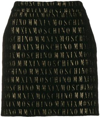 Moschino All-Over Logo Short Skirt