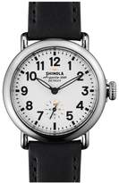Shinola 'The Runwell' Leather Strap Watch, 36mm