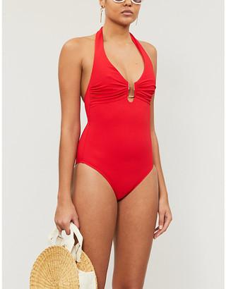 Melissa Odabash Tampa plunging swimsuit