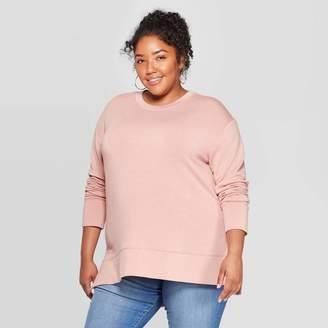 Ava & Viv Women's Plus Size Long Sleeve Crewneck Sweatshirt - Ava & VivTM