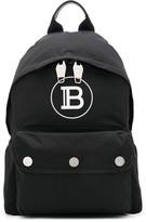 Balmain B logo print backpack